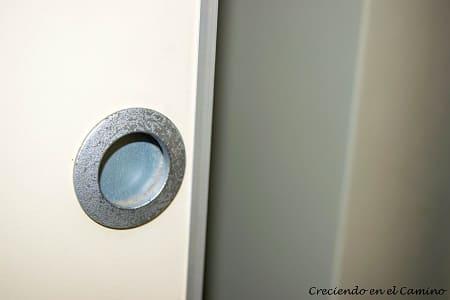 tirador de puerta placard de un motorhome