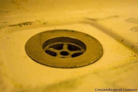 desagüe de ducha del motorhome