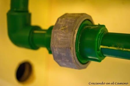 termofusion en instalación de agua de una casa rodante