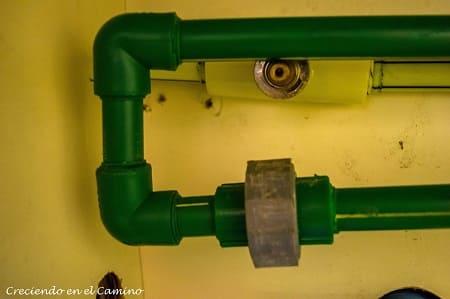 termofuscion cañeria de agua de un motorhome