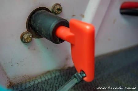 llave de corte de una bateria
