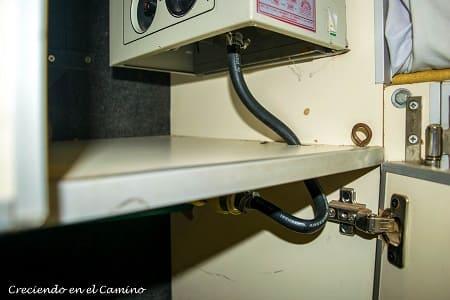 como conectar un calefactor a gas envasado en un motorhome