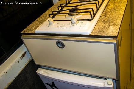 cajón de mueble de cocina de motorhome