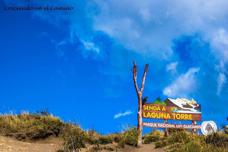 inicio sendero a Laguna Torre, El Chalten
