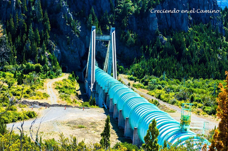 Puente tubería, Presa hidroeléctrica Futaleufu