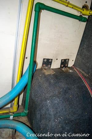instalacion de agua de nuestro motorhome
