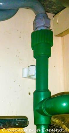 instalacion de agua caliente en un motorhome