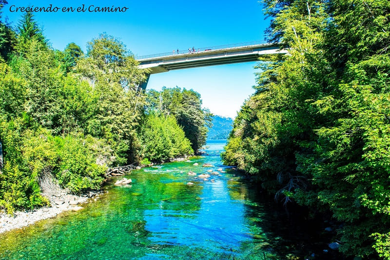Río Correntoso, Camino 7 Lagos, Argentina