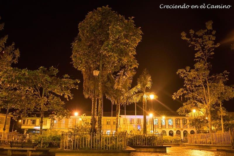 parque central de pijao colombia