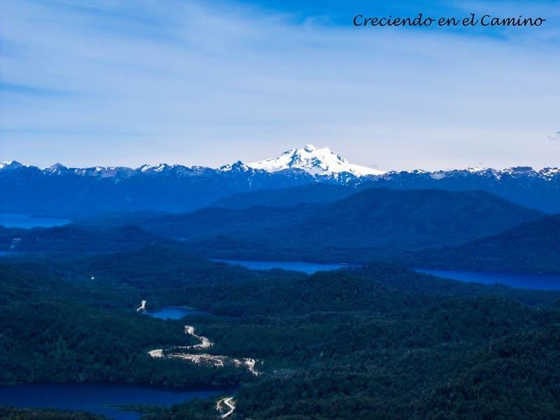 Vista desde el cerro la Mona lago espejo chico
