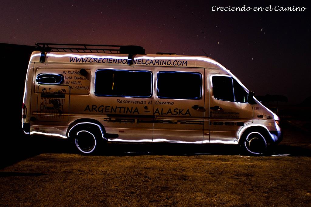 LIGHT PAINTING LAS MEJORES FOTOGRAFIAS DE NUESTRO MOTORHOME LA GRAN SRINTER